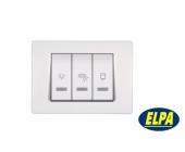 Indikator 66911.00 Sklopka za kupatilo sa indikacijom 10/2x16A 250V horizontalna